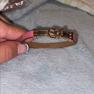 Coach leather buckle bracelet